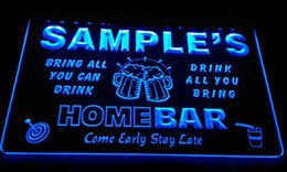 LS581-b Name Personalized Custom Family Home Brew Mug Cheers Bar Beer Neon Sign