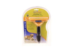 Wholesale New Pet Brush for Dog and Cat deShedding Tool Grooming Yellow Long Hair Short Hair Expert deshedding Edge Designer