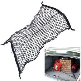 Wholesale 4 Hooks Car Trunk Elastic Cargo Net cars boot luggage mesk net rack storage bag net For Audi Q3 Q5 Q7 A3 A4L A5 A6L Benz Volkswagen ford new