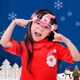 Wholesale Glasses Frame Christmas Decorations Santa Claus Snowman Bear Glasses Without Lens Kids Lovely Accessories Children Sunglasses Frames