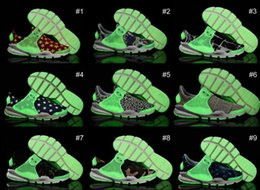 Wholesale Socks Designs Shoes - 2016 New Design Fragment X Sock Dart SP Lode Noctilucence Outdoor Running Shoes Women and Mens Sports Sneakers Boots Size 36-44