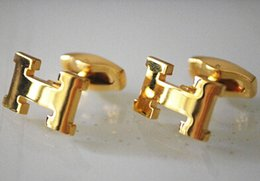 Wholesale H men s French pattern shirt cuff cufflinks K gold plated