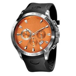 New Quartz Orange Dial Men's Watch AR0652 0652 Rubber Strap Gents Wristwatch