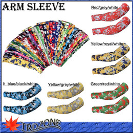 wholesale NEW 2016 brand new dhl shipping Compression Sports Arm Sleeve Moisture Wicking softball,baseball camo sports guard