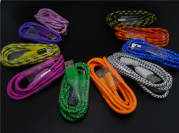 Wholesale high quality V8 m FT Fabric Braided nylon data sync cables mirco usb cables charger for samsung HTC LG cell phone