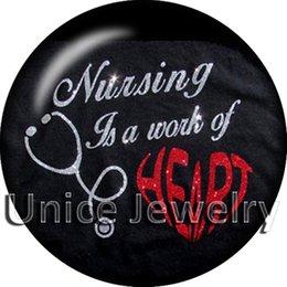 Wholesale AD1304421 mm Snap On Charms for Bracelet Necklace Hot Sale DIY Findings Glass Snap Medical Symbol Design