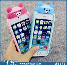 Wholesale Milk Cow Animal Case for iPhone 6 Silicone Cartoon Case for iPhone 6 Plus Lovely Pattern