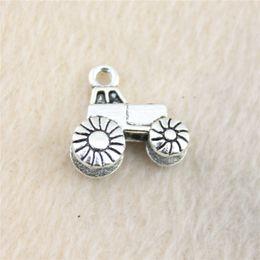25Pcs 16*15mm antique Silver ToneTruck Charms Zinc Alloy DIY Handmade Jewelry Pendants Wholesale B13257