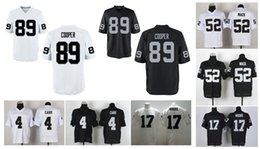 Wholesale HOT SALE Men s Raiders Elite Football Jerseys CARR MOORE MACK COOPER High Quality Stitched authentic Two Colors Allowed