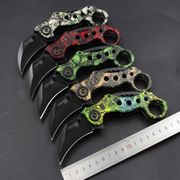 Wholesale SOG camping hunting claw tiger tooth black pearl knives CSgo doppler real survival sharp blade scorpion trident karambit fade knife