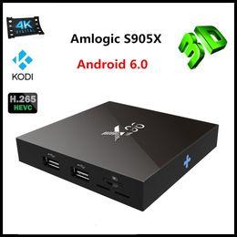 Wholesale X96 Smart TV BOX K Android Amlogic S905X Quad Core H Media Player KODI Marshmallow Mini PC GHz Wifi Miracast Airplay DLNA VS MXQ