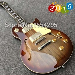 Wholesale In Stock Best High Quality LP Electric guitar with F holes Guitarra Real photo shows