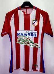 Wholesale 1617 Atletico Madrid home player version top quality slim fit jersey carrasco griezmann torres saul koke new font available
