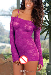 Wholesale Lenceria Baby Dolls - Baby Doll Sexy Lingerie Erotic Women Sexy Lingerie Set Nightwear Sleepwear 2016 Erotic Nightgown Lingerie Set Women Lenceria Sexy
