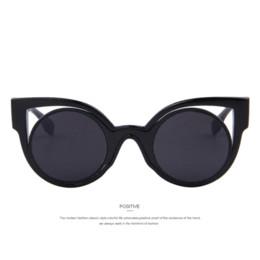 2016 New Fashion Vintage Women Cat Eye Sunglasses Dazzle Colour Star Sunglasses Round Mirror UV400 Lens Cat Eye Frame Metal Legs