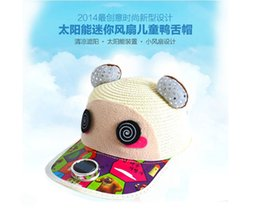 Wholesale new children s hat UV solar fan cap card baseball cap hat Korean boys and girls hat