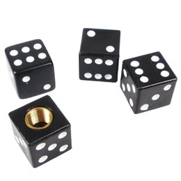 Universal Black 4pcs Dice voiture de camion bicyclette de pneu Air Valve Stem Caps roue jante F00006 à partir de valves à air de camion fournisseurs