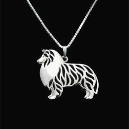Standing Rough Collie jewelry Silver Gold Necklaces & Pendants For Women Casual Jewelry Charms Dog Necklace