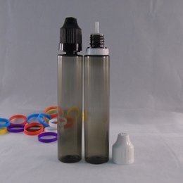 Low Price E liquid PET Bottles 30ml Clear Black Pen Shape Unicorn Bottle E juice Plastic Needle Bottles Twist Off Caps
