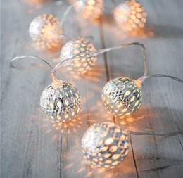 Novelty Moroccan 20 Lamp Balls LED String RGB Warm White For Wedding Party Fairy Lights Christmas Garlands Flexible Strip Decoration