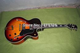 free shipping High Quality Luxury jazz Semi Hollow guitar sunburst L5 electric guitar 59