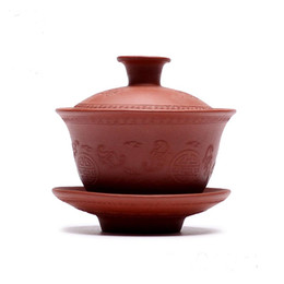 Wholesale Teapot Style Of Cup Shape YiXing Purple Sand Cup With Total Handmade Small Cue Caving With Chinese Old Tradition Culture Drawing