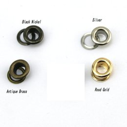 Wholesale 3 mm mm mm Silver gold rose gold Antique Brass Black Nickel metal copper eyelets buttons clothes accessory handbag findings