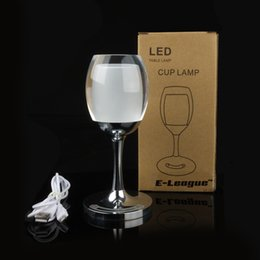 Wholesale LED Desk Lamp Universal BuyingTM Adjustable Indoor Acrylic RGB Red Wine Cup Table Lamp With Touch Sensor Control for Dinner Decoration