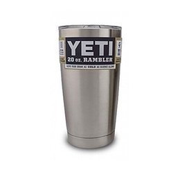 Wholesale In Stock New YETI COOLERS OZ STAINLESS STEEL RAMBLER TUMBLER CUP COFFE MUG W LID fast shipping by dhl