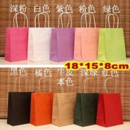 Wholesale stationery holder Elegant Gift paper bag x15x8cm kraft Paper gift bags with handle