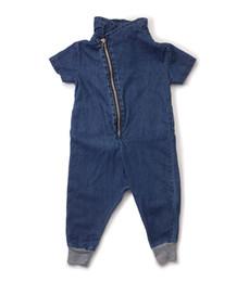 Bébé cowboy vêtements à vendre-Nouvelle conception de fermeture à glissière baby boygirl robe Unisex Baby Rompers nouveau-né cowboy Romper Jumpsuit Infantil bébé Kleren vêtements 3pcs / lot