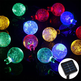 Grounding lawn waterproof LED solar lights 4.8 m 20 cm LED2.4 ball LED string lights holiday decorations Outdoor Christmas Party