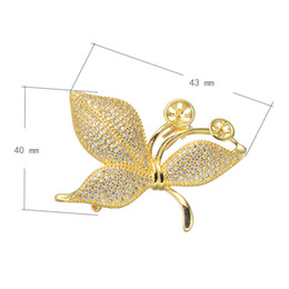 2016 Hot Sale CZ Brooch Brass Leaf Plated Micro Pave Cubic Zirconia More Colors For Choice 43x40mm 1 PCS Lot Free shipping