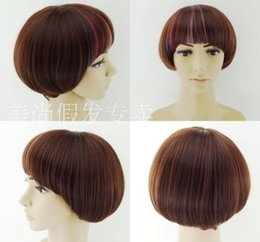 Wholesale New Short straight hair Womens Ladies BOBO Hair Cosplay Wig best quality Synthetic hair wigs mac makeup