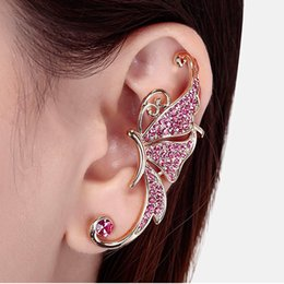 1PCS Fashion Earring Jewelry for Women Cute Butterfly Rhinestone Ear Cuff Clip Cartilage Earring Fashion Accessories