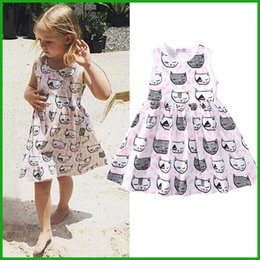 kids toddler baby cat princess tulle tutu dress vestido casual style america fashion lovely children clothing outfit costume