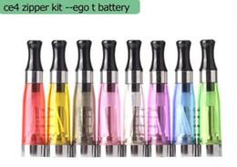 Promotion métal cas ecig 2016 Ego kit de démarrage CE4 atomiseur électronique e cigarette kit cig 650mAh 900mAh 1100mAh EGO-T cas batterie blister Clearomizer Ecig DHL gratuit