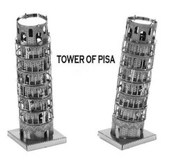Wholesale Tower of Pisa DIY Puzzle Metal Model Architectural Classic Education Toys for Children Adults