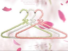Wholesale 5pcs cm Hangers For Cothes Pearl Plastic Hanger Beautiful Fashion Coat Suit Dress Hanger Women White Clothes Rack