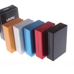 Wholesale 2016 Fashion x Durable Aluminum Full Pack Pieces Capacity Cigarette Case Holder Box