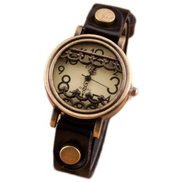 Wholesale 2016 Hot Sale Restoring ancient ways of watches No case of the watch A metal pattern carved a watch Quartz watch hours pointer