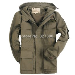 Wholesale Spring Mens US Army Air Force Pilot Military Jacket Tactical Hoodie Trench Casual Thermal Fleece Lining Outdoor Windbreaker Coat