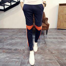 2016 comprimento cintura quadril Atacado-Moda Corpo Inteiro Calça de Jogging calças dos homens ativos Mid cintura Hip Hop calças confortáveis calças dos homens Calças Sports Cotton militares barato comprimento cintura quadril