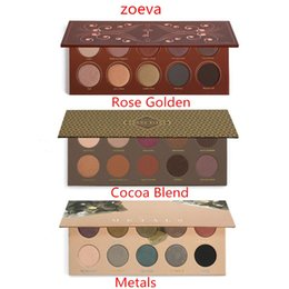 Wholesale 2016 ZOEVA Eyeshadow Palette Mixed Metals cocoa blend rose golden New Collection color eyeshadow eye set eyeshadow makeup free ship