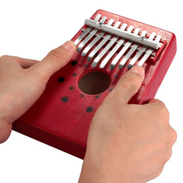 Wholesale Hot Sale Red Keys Kalimba Thumb Piano Traditional Musical Instrument Portable Great Gift Drop Shipping