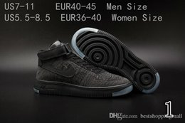 Wholesale air ULTRA Weave Training Shoes Full White Black AF Women Men Breathable Sports Skate Shoes Ship With