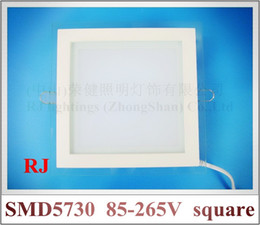 Wholesale recessed LED ceiling panel light lamp with glass square W W W SMD5730 high bright CE ROHS approved best price