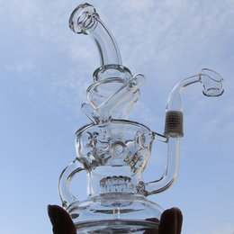 Wholesale Klein bong New arrival glass water pipes with QCB quartz banger nail egg glass bongs Recycler gear perc mm joint