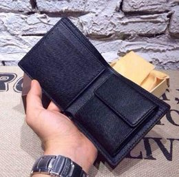 Wholesale 2016 Mens Leather Wallet Men s Genuine Leather With Wallets For Men Purse Wallet Men Wallet Cowhide brand Box purse