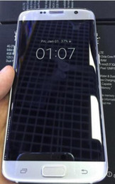Logos sim en Ligne-5.5Inch S7 bord téléphones MTk6580 Quad Core Unlock Téléphone 4GB ROM Cheap téléphone cellulaire double caméra Wifi WIth logo Boîtier scellé avec Free Case